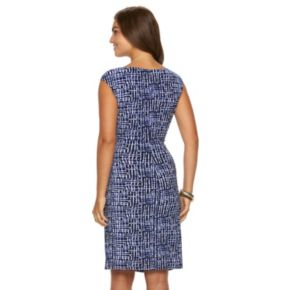 Women's Chaps Printed Twist-Front Dress