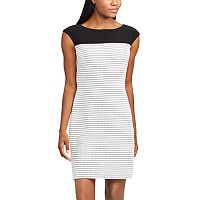 Women's Chaps Jacquard Sheath Dress