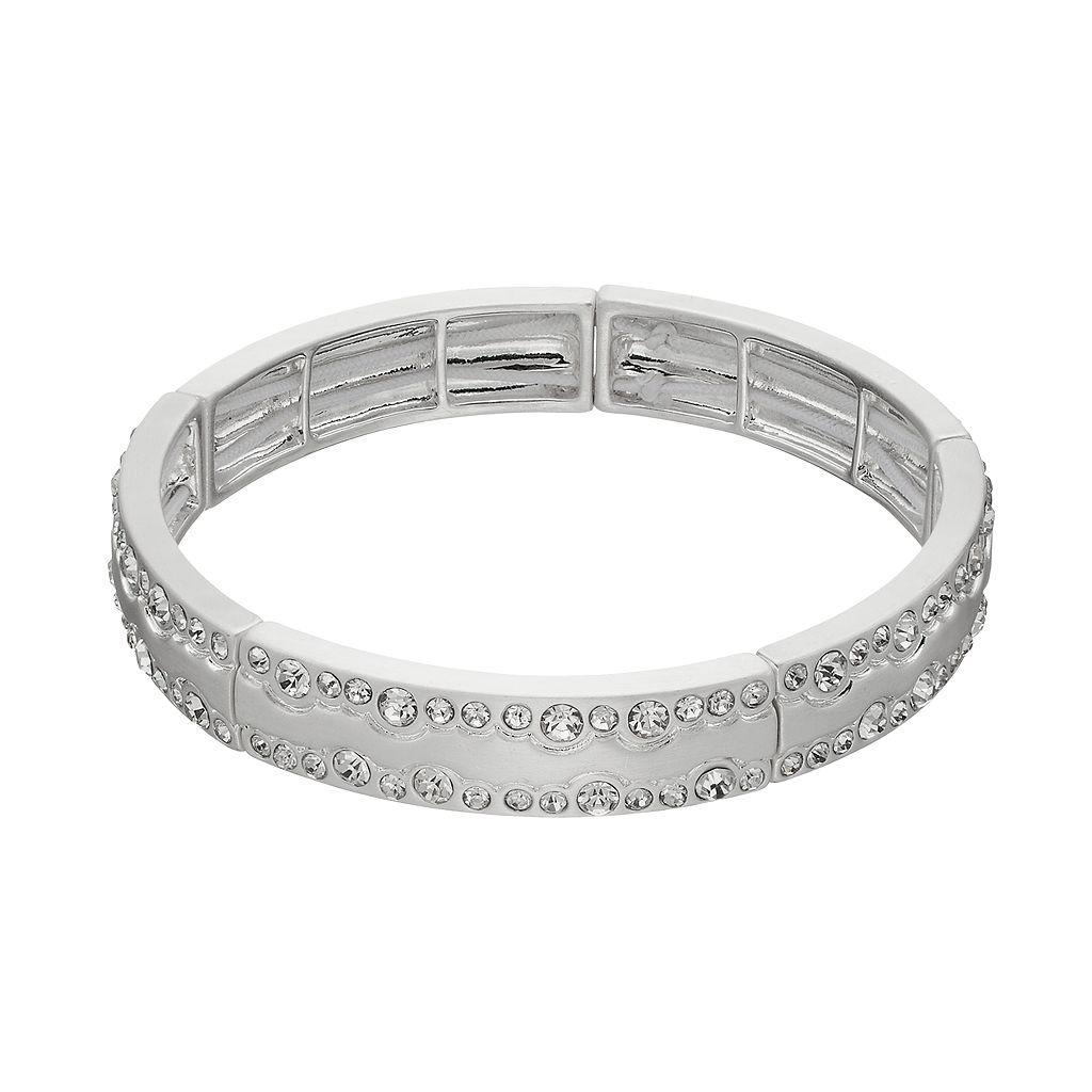 Dana Buchman Wavy Simulated Crystal Stretch Bangle Bracelet