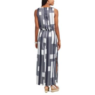 Women's Chaps Printed Crepe Maxi Dress