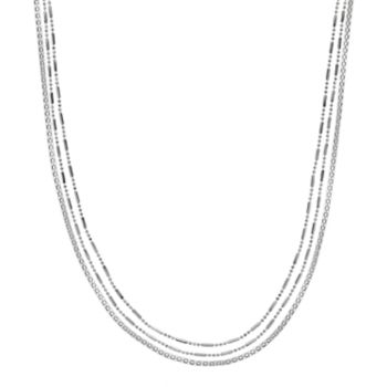 Jennifer Lopez Long Multi Strand Chain Necklace