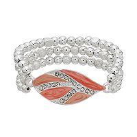 Pink Marbled Multi Strand Stretch Bracelet