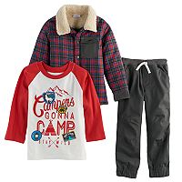 Toddler Boy Nannette 3 pc Plaid Jacket,
