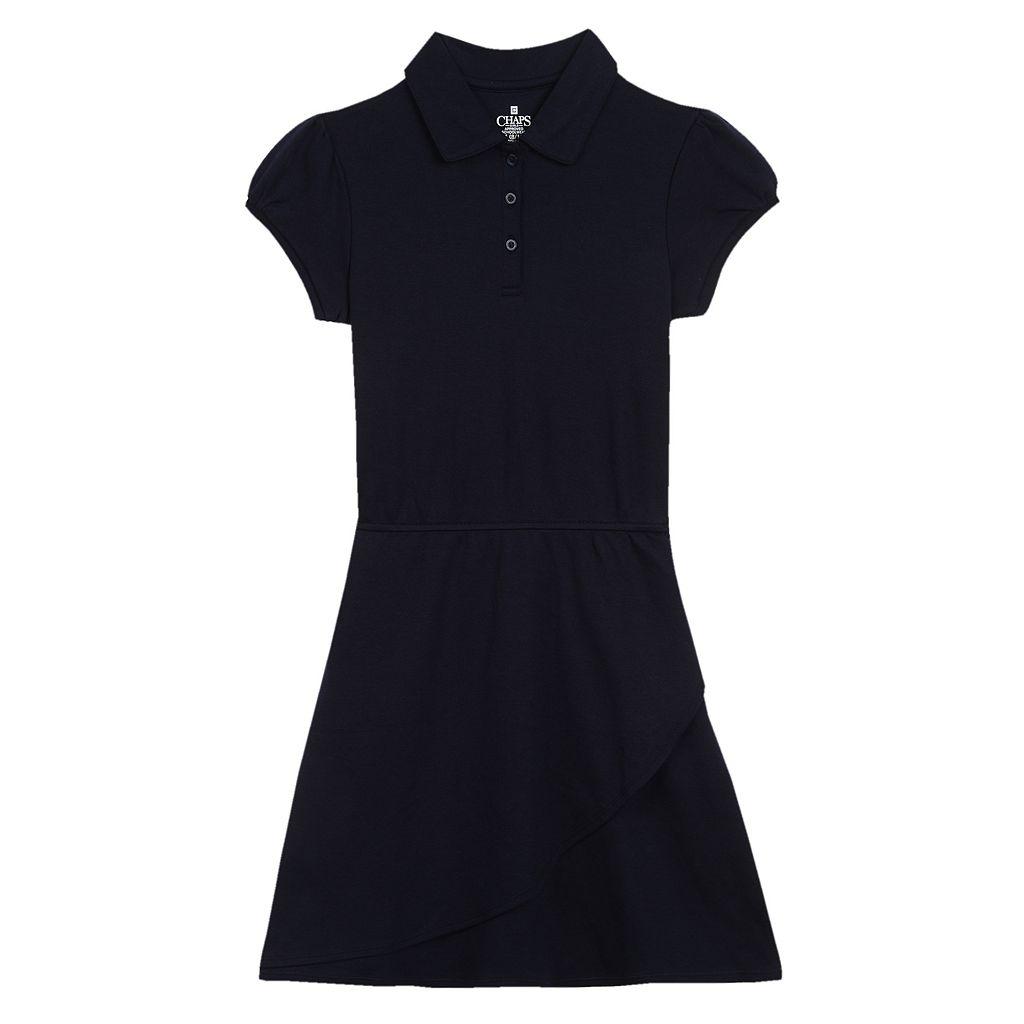 Girls 7-16 Chaps Short Sleeve Polo Dress