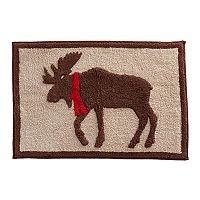 St. Nicholas Square® Through the Woods Moose Bath Rug
