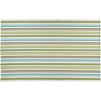 Couristan Bar Harbor Caribbean Breeze Striped Reversible Cotton Rug