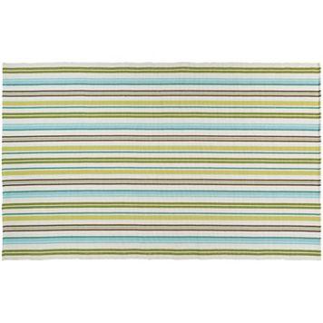 Couristan Bar Harbor Caribbean Breeze Striped Reversible Cotton Rug