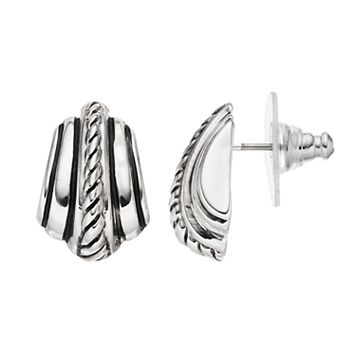 Dana Buchman Textured Stud Earrings