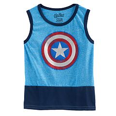 Boys 4-7 Marvel Captain America Colorblocked Tank Top