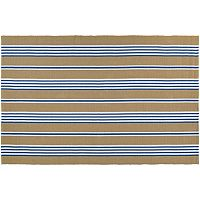 Couristan Bar Harbor Iced Coffee Striped Reversible Cotton Rug