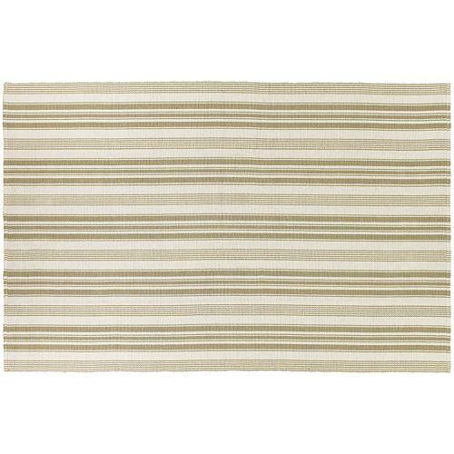 Couristan Bar Harbor Pina Colada Striped Reversible Cotton Rug