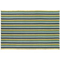 Couristan Bar Harbor Lemon Drop Striped Reversible Cotton Rug