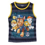 Boys 4-7 Paw Patrol Rubble, Chase & Marshall Striped Tank Top