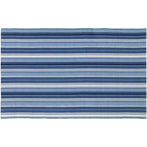 Couristan Bar Harbor Blueberry Crush Striped Reversible Cotton Rug