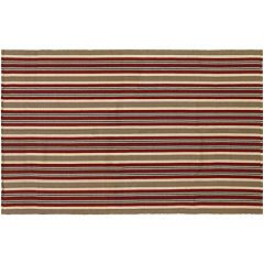 Couristan Bar Harbor Pumpkin Spice Striped Reversible Cotton Rug