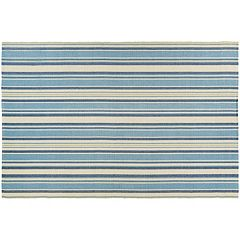 Couristan Bar Harbor Lagoon Striped Reversible Cotton Rug