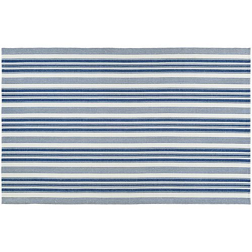 Couristan Bar Harbor Coconut Striped Reversible Cotton Rug