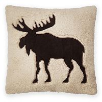 St. Nicholas Square® Moose Sherpa Fleece Throw Pillow