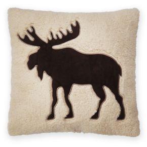 St. Nicholas Square® Moose Sherpa Fleece Throw Pillow