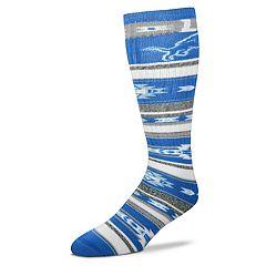 Adult For Bare Feet Detroit Lions Tailgater Crew Socks