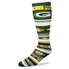 Adult For Bare Feet Green Bay Packers Tailgater Crew Socks