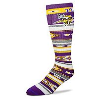 Adult For Bare Feet Minnesota Vikings Tailgater Crew Socks