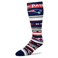 Adult For Bare Feet New England Patriots Tailgater Crew Socks