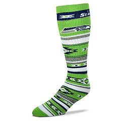 Adult For Bare Feet Seattle Seahawks Tailgater Crew Socks