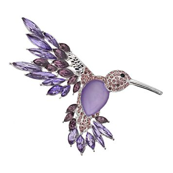 Dana Buchman Purple Hummingbird Pin