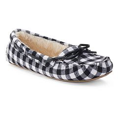 SO® Women's Buffalo Check Moccasin Slippers