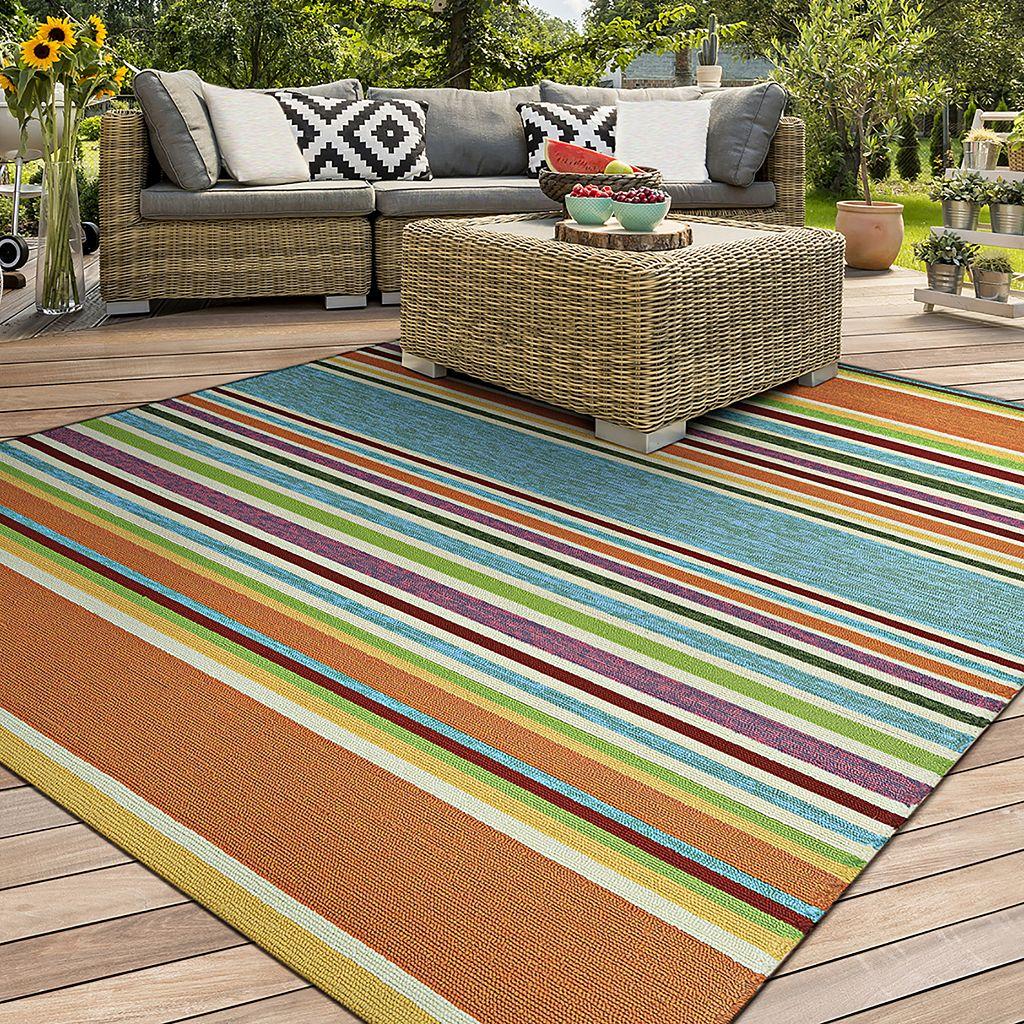Couristan Covington Sherbet Striped Indoor Outdoor Rug