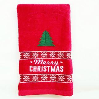 St. Nicholas Square® Merry Christmas Fingertip Towel