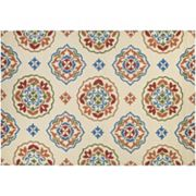 Couristan Covington San Clemente Medallion Indoor Outdoor Rug