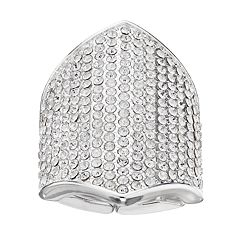 Jennifer Lopez Pave Shield Stretch Ring