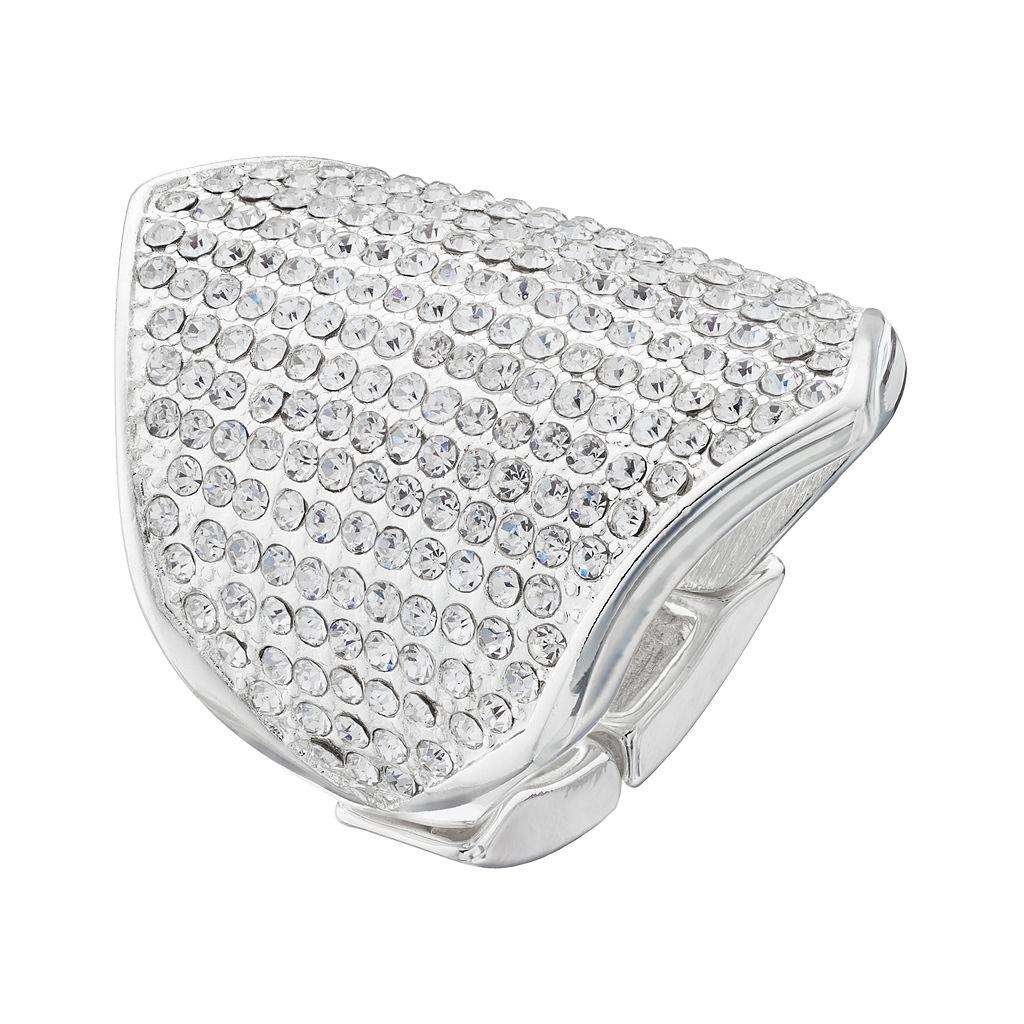 Jennifer Lopez Pave Shield Stretch Ring