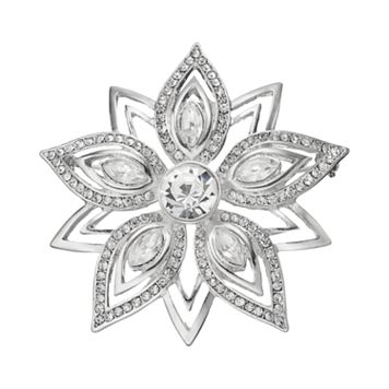 Dana Buchman Openwork Simulated Crystal Flower Pin