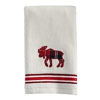 St. Nicholas Square® Plaid Moose Fingertip Towel