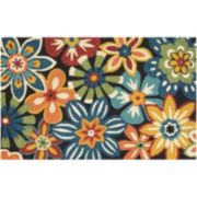 Couristan Covington Geranium Floral Indoor Outdoor Rug