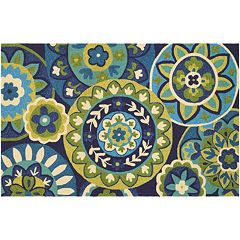 Couristan Covington Rip Tide Floral Indoor Outdoor Rug