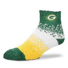 Women's For Bare Feet Green Bay Packers Marquee Sleep Socks