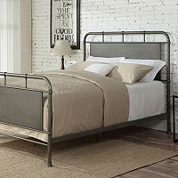 Pulaski Queen Steel Bed