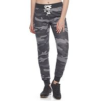 Juniors' SO® Lace-Up Jogger Pants