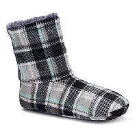 Women's Cuddl Duds Plaid Bootie Slippers
