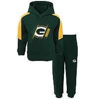 Baby Green Bay Packers Fullback Fleece Hoodie & Pants Set