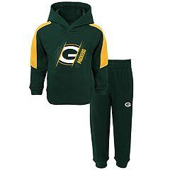 Baby Green Bay Packers Fullback Fleece Hoodie & Pants Set