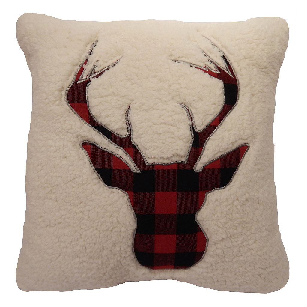St. Nicholas Square® Deer Sherpa Fleece Throw Pillow