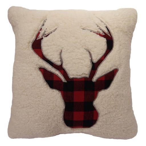 St. Nicholas Square® Deer Sherpa Fleece Throw Pillow