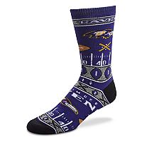Adult For Bare Feet Baltimore Ravens Super Fan Crew Socks