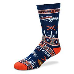 Adult For Bare Feet Denver Broncos Super Fan Crew Socks