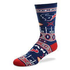 Adult For Bare Feet Houston Texans Super Fan Crew Socks